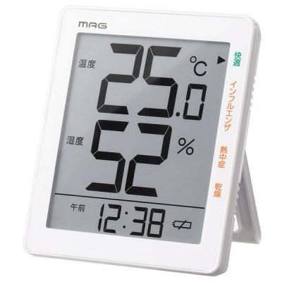 ノア精密 温湿度計 NOA MAG デジタル温湿度計 TH-105WH 返品種別A