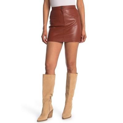 ビービーダコタ レディース スカート ボトムス Keep Livin Faux Leather Skirt RUST