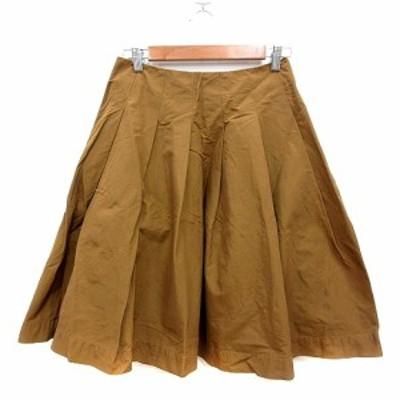 【中古】オルタンシア hortensia フレアスカート ひざ丈 36 茶 ブラウン /MN レディース