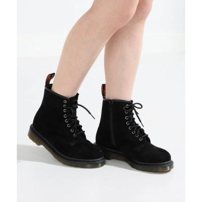 ブーツ Dr.Martens × Ray BEAMS / 別注 スエード 8eye ブーツ