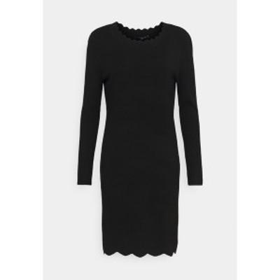 カンマ レディース ワンピース トップス Jumper dress - black black
