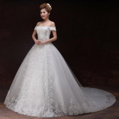 ウエディングドレス ブライズメイド ブライダル 結婚式 披露宴 プリンセス ロング ドレス かわいい 安い 純白