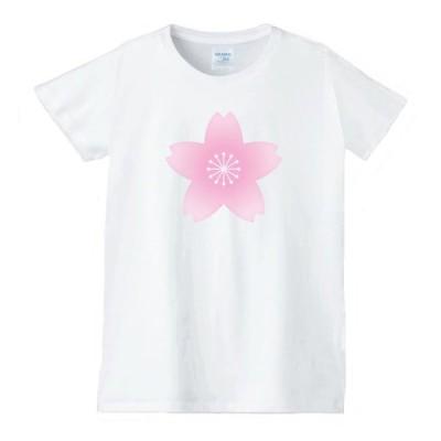花 フラワー Tシャツ 白 レディース 女性用 jfw4