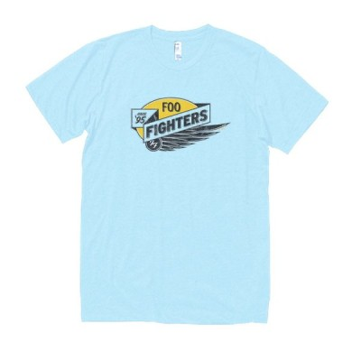 FOO FIGHTERS 音楽・ロック・シネマ Tシャツ 水色