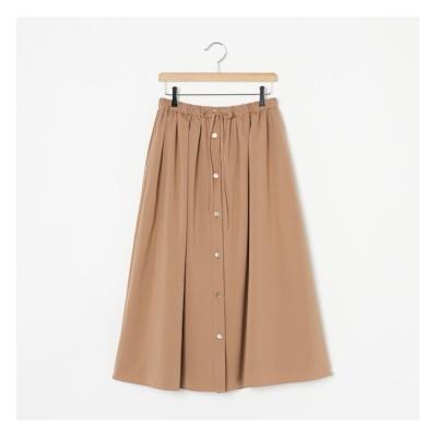 【エリオポール/HELIOPOLE】 HELIOPOLE ドロストギャザースカート