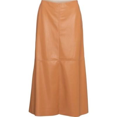 ナヌシュカ Nanushka レディース ひざ丈スカート スカート zayra faux leather midi skirt Nude