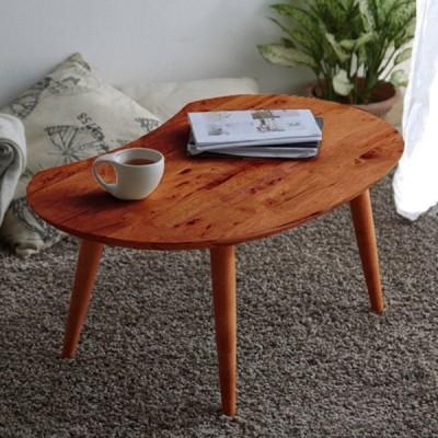 センターテーブル ミディアムブラウン 幅74cm 奥行47.5cm 高さ32.5cm 代引不可