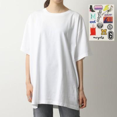 MM6 Maison Margiela エムエムシックス メゾンマルジェラ S52GC0151 S23588 カスタマイザブル Tシャツ 半袖 オーバーサイズ ステッカー 100 レディース