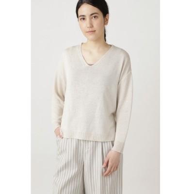 ニット ◆≪Japan couture≫シルク麻プルオーバーニット