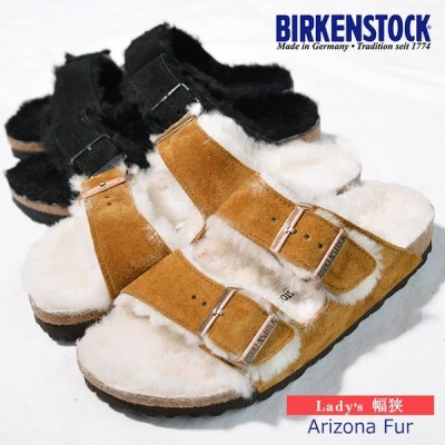 ビルケンシュトック サンダル アリゾナ Arizona Fur  752663 1001135 BIRKENSTOCK ラムウール コンフォート国内正規品 Black Mink 黒 BIRKENSTOCK