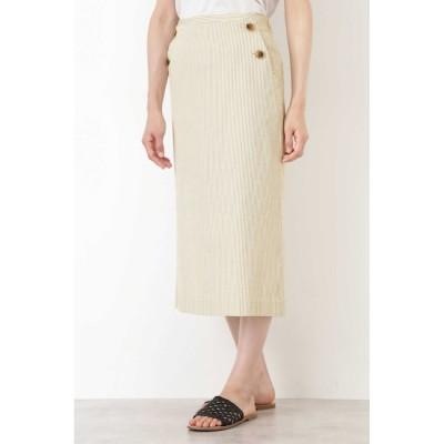 【ヒューマンウーマン/HUMAN WOMAN】 後染めサッカードビースカート