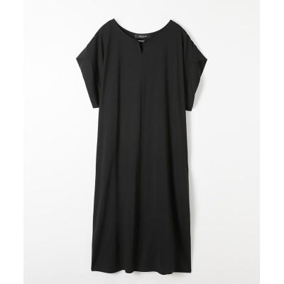 小さいサイズ メタルバー付きコクーンワンピース 【小さいサイズ・小柄・プチ】ワンピース, Dress