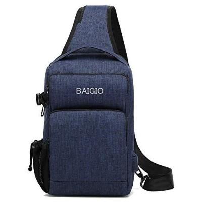 Baigio ボディバッグ メンズ ワンショルダーバッグ 斜めがけ ショルダーバッグ 肩掛け 手提げ 3way 乾湿分離 盗難