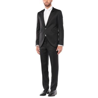CARLO PIGNATELLI スーツ ブラック 46 レーヨン 56% / バージンウール 44% スーツ
