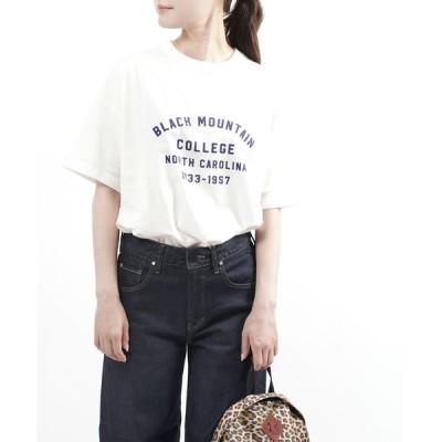 トラヴァイユマニュアル プリントTシャツ ロゴT BLACK MOUNTAIN COLLEGE TRAVAIL MANUEL 2021春夏新作 レディース 国内正規品 メール便可能5