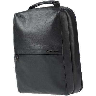 マンダリナダック MANDARINA DUCK バックパック&ヒップバッグ ブラック 牛革 100% バックパック&ヒップバッグ