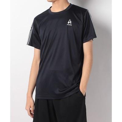 ATHFORM(アスフォーム) 袖ラインワンポイント半袖Tシャツ S NVY メンズ AF-S20-010-014