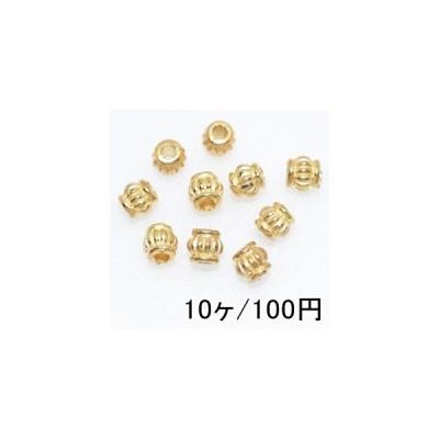 【10個】メタリックパーツ メタルビーズ ロンデル37