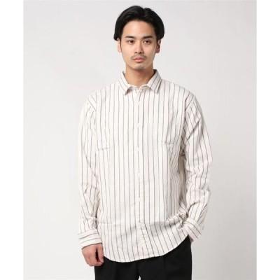 シャツ ブラウス ショートワイドカラー 長袖カジュアルシャツ