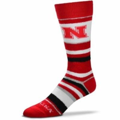 For Bare Feet フォー ベア フィート スポーツ用品  For Bare Feet Nebraska Cornhuskers Womens Soft Stripe Quarter-Length Socks