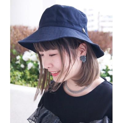 polcadot / リボンチャーム コットンハット(あごひも付き) WOMEN 帽子 > ハット