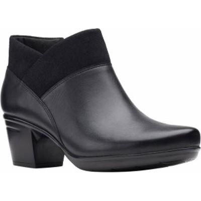 クラークス レディース ブーツ・レインブーツ シューズ Women's Clarks Emslie Essex Ankle Bootie Black Combination Full Grain Leathe