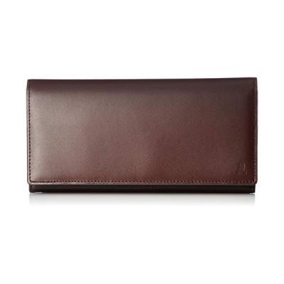 人気商品[ランバンコレクション] LEATHER GRADATION かぶせ型長財布 JLMW8IT1 チョコ