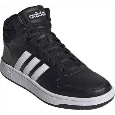 [adidas]アディダス メンズ カジュアルシューズ ADIHOOPS 2.0 MID M (FY8618)コアブラック/フットウェアホワイト/フットウェアホワイト[取寄商品]