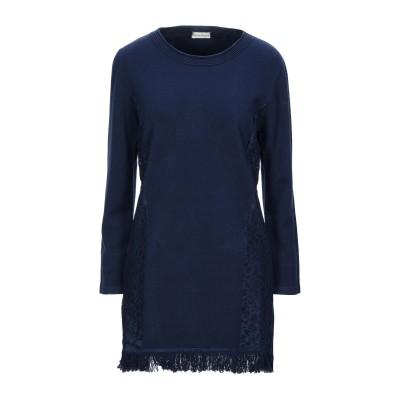 CASHMERE COMPANY ミニワンピース&ドレス ダークブルー 46 ウール 50% / カシミヤ 30% / ナイロン 15% / ポリウ