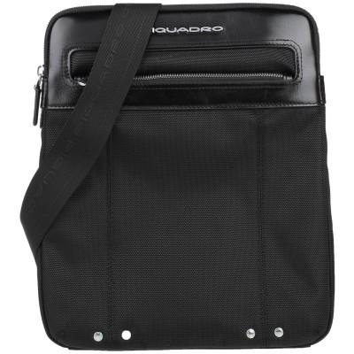 PIQUADRO メッセンジャーバッグ ブラック 牛革 / ナイロン / ポリエステル / 金属 メッセンジャーバッグ
