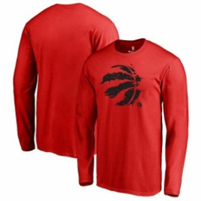 Fanatics Branded ファナティクス ブランド スポーツ用品  Fanatics Branded Toronto Raptors Red Splatter Logo Long
