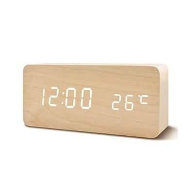 置き時計 置時計 デジタル おしゃれ 北欧 木目調LED アンティーク 時計 クロック 目覚まし時計 デジタル時計 ア