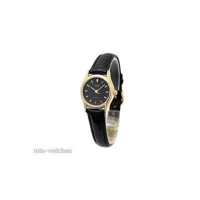 カシオ 腕時計  Casio LTP1094Q-1A レディース カジュアル アナログ 腕時計 Genuine レザー バンド ゴールド ケース