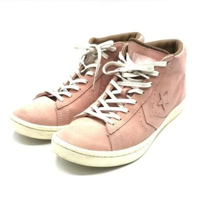 コンバース ユナイテッドアローズ アンドサンズ PRO-LEATHER スニーカー シューズ 27cm ピンク 靴 B1756◆