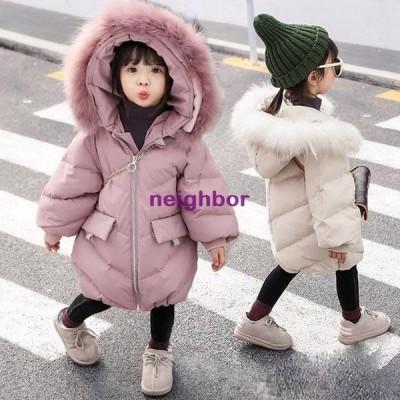 新品 冬着 子供服 ダウンコート コート おしゃれ アウター 女の子 韓国子供服 ベージュ パープル 可愛い