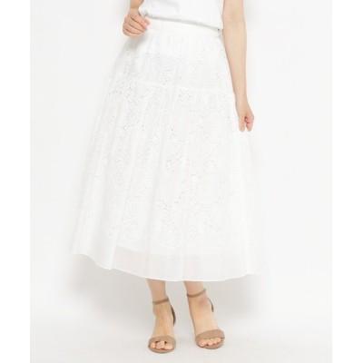 WORLD ONLINE STORE SELECT / ボタニカル刺しゅうレースロングフレアスカート WOMEN スカート > スカート