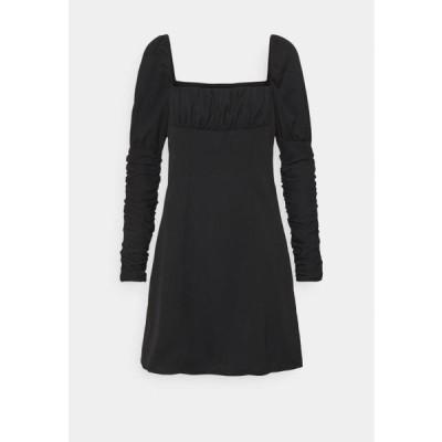ファッションユニオン レディース ファッション TERRY DRESS - Day dress - black