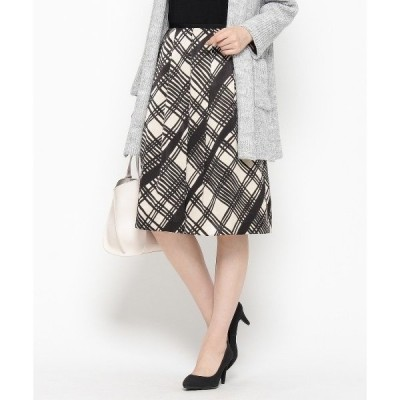 ◆バイアスチェックフレアスカート