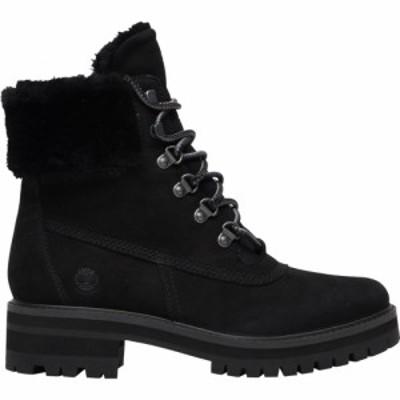 ティンバーランド Timberland レディース ブーツ シューズ・靴 Courmayeur 6 Shearling Boots Black Nubuck/Black