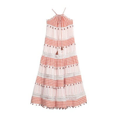 ドド・バー・オア DODO BAR OR ロングワンピース&ドレス 赤茶色 S コットン 100% ロングワンピース&ドレス