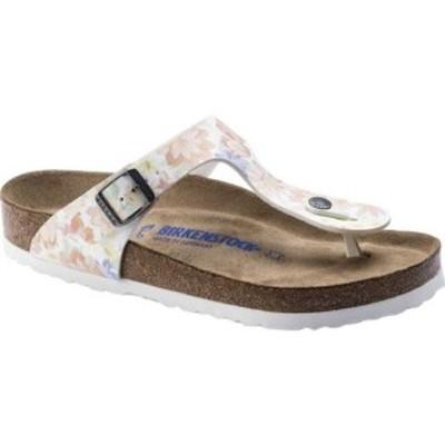 ビルケンシュトック レディース サンダル シューズ Gizeh Soft Footbed Sandal Supernatural Flower White Birko-Flor
