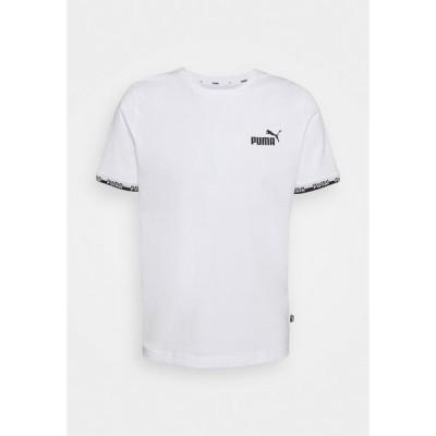 プーマ Tシャツ メンズ トップス AMPLIFIED TEE - Print T-shirt - white