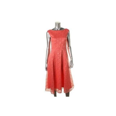 ドレス 女性  ベッツィジョンソン Betsey Johnson 8078 レディース オレンジ Lace Mid-Calf Party Cocktail ドレス 2