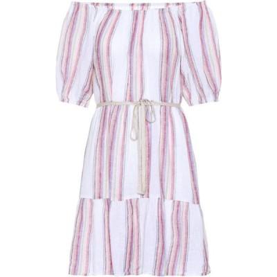 ベルベット グラハム&スペンサー Velvet レディース ワンピース ワンピース・ドレス cinthia striped linen-blend minidress Multi