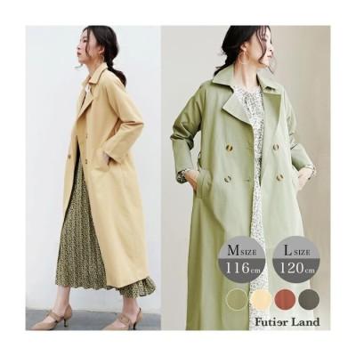 Futier Land 【去年即完売】超ロング丈ベーシック・トレンチコート グリーン M レディース