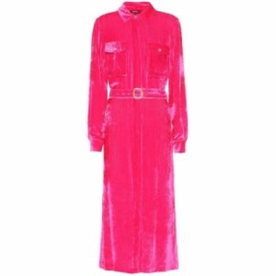 シエス マルジャン Sies Marjan レディース ワンピース ワンピース・ドレス Flipper silk and cotton corduroy dress Fuchsia
