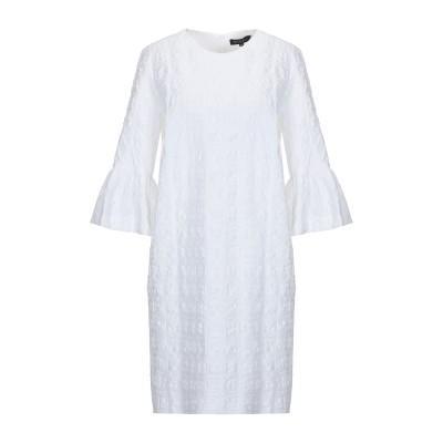 ANTONELLI ミニワンピース&ドレス ホワイト 40 コットン 98% / ポリウレタン 2% ミニワンピース&ドレス