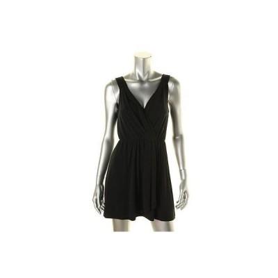 ビーシービージェネレーション ドレス ワンピース BCBGeneration 5485 レディース ブラック クロスover ノースリーブ ミニ Party ドレス S BHFO