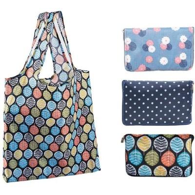 エコバッグ 折りたたみ 買い物袋 キャンバス ショッピングバッグ 3個セット 花柄 キャンバス ショッピングバッグ 大容量 防水 耐久 携帯便利