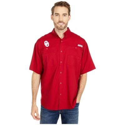 コロンビアカレッジ シャツ トップス メンズ Oklahoma Sooners Tamiami Short Sleeve Shirt Red Velvet